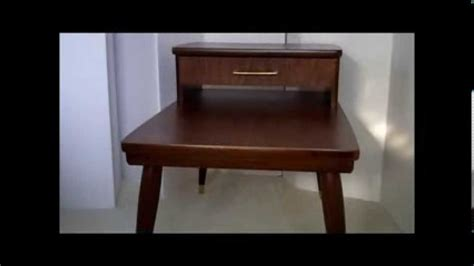 two tier end table with drawer mid century furniture 4 less com mid century modern two