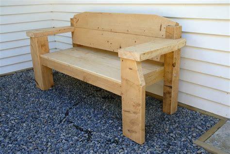 Funky Storage Bench Chunky Macrocarpa Bench Funky Furniture