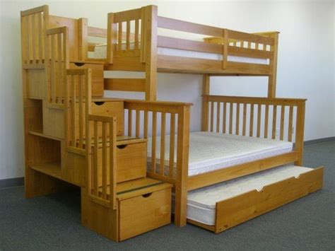 Twin Over Twin Bunk Bed With Trundle And Storage Drawers Bunk Bed Plans With Storage