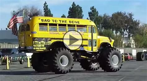 bad to the bone monster truck video quot bad to the bone quot bus monster truck