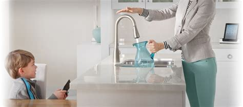no touch kitchen faucets hand touch faucet images