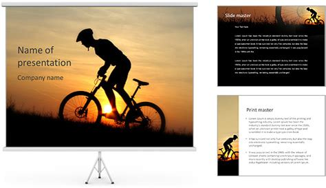 Cycling At Sunset Powerpoint Template Backgrounds Id 0000004965 Smiletemplates Com Singing Bee Powerpoint Template