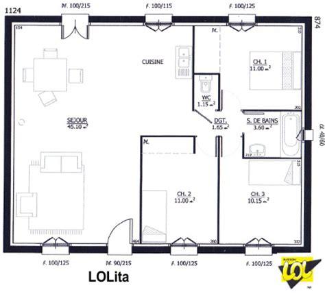 De Vie 45m2 by Mod 232 Le Et Plans Du Constructeur Maison Lol