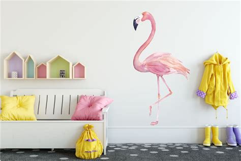 Kids Wall Stickers wall sticker flamingo walldesign56 wall decals murals