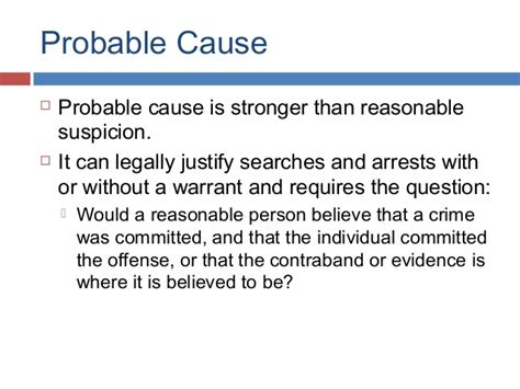 Probable Cause For A Search Warrant Ch08