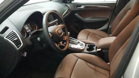 Audi Q5 Chestnut Brown Interior by New 15 Q5 Cuv 233 E Silver With Chestnut Interior Audiworld
