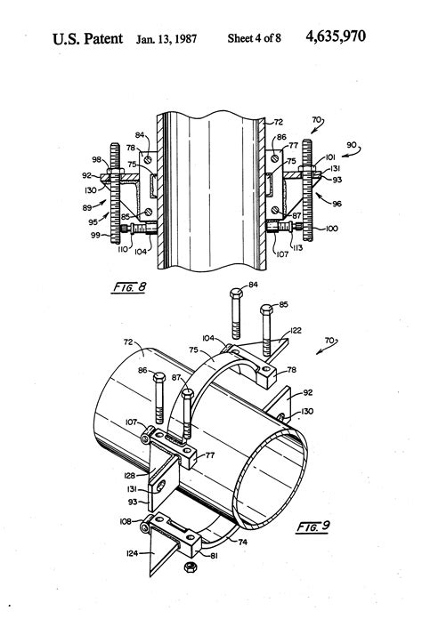 Patent US4635970 - Thrust rod anchor for pipe joint
