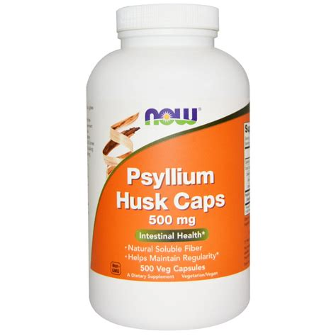 Psyllium Husk Capsules Detox by Now Foods Psyllium Husk Caps 500 Mg 500 Veg Capsules