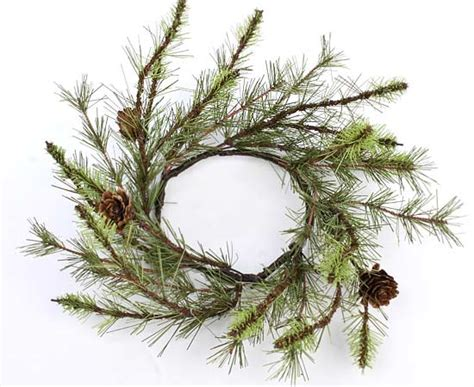 winter candle rings woodsy artificial pine candle ring florals and winter crafts