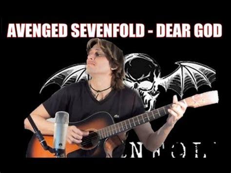 tutorial guitar dear god avenged sevenfold dear god fingerstyle guitar cover