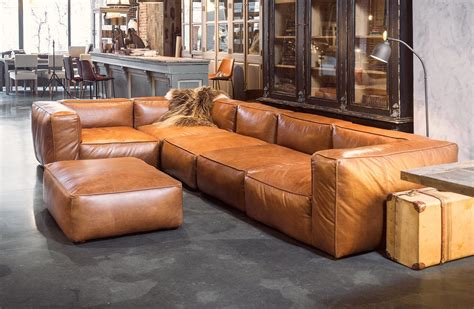 cognac leather chair and ottoman leather corner sofa cognac colour woontheater