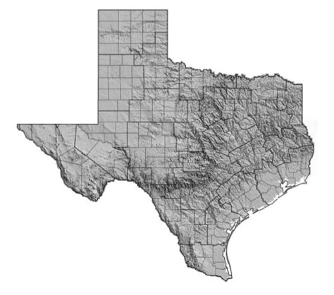 topographical map of texas figure 5 topographical map of texas bureau of transportation statistics