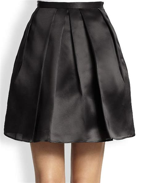 satin pleated mini skirt elizabeth s custom skirts