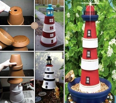 lighthouse craft project how to make a terra cotta clay pots lighthouse