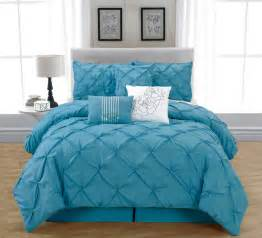 Piece king jolie blue comforter set blue