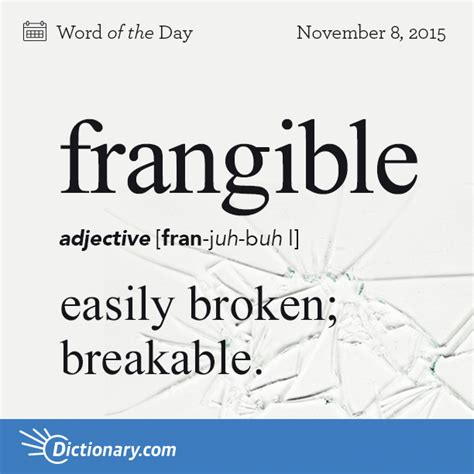 Definition Of The Word Frangible Word Of The Day Dictionary