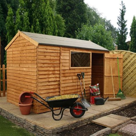 waltons reverse overlap apex wooden shed