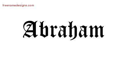 blackletter  tattoo designs abraham printable