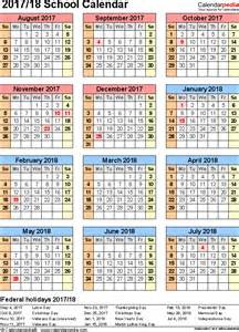 Calendar 2018 Pdf Mahalaxmi School Calendars 2017 2018 As Free Printable Excel Templates