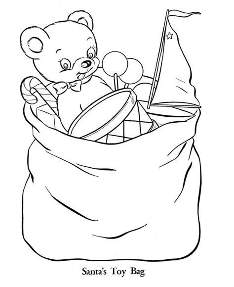 santa bag coloring page bluebonkers teddy bear coloring page sheets santa bear