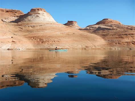 antelope canyon morning kayak  lake powell adventure