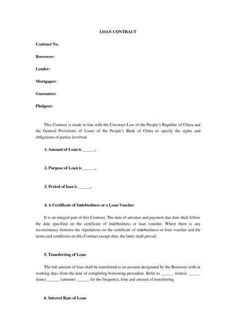 business loan agreement template helloalive