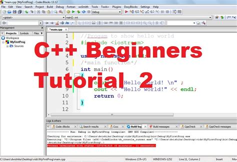 programming c tutorial beginners c tutorial for beginners 2 understanding c program