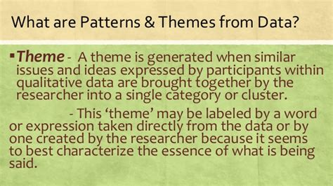 what is pattern in data strategies on how to infer explain patterns and themes