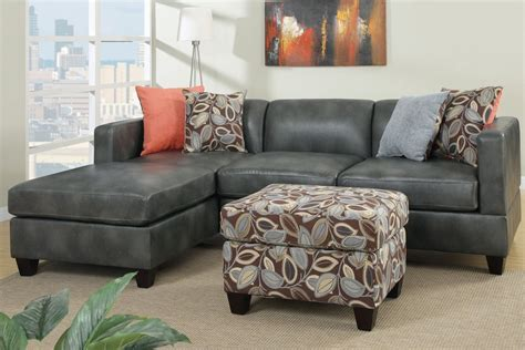 Faux Leather Sectional Sofa by Odessa Gray Faux Leather Sectional Sofa A Sofa