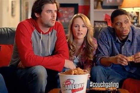 whos on the couch in cadilac comer ial who s the hot girl in the kfc couchgating commercial