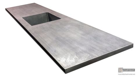 Zinc Sheets For Countertops by Zinc Counter Top With Integrated Sink Patina Matte