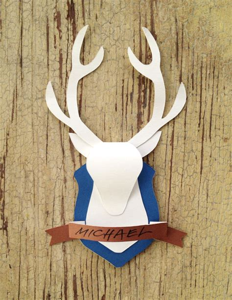 How To Make A Paper Deer - day 41 paper deer mount card from cathe holden on hp create