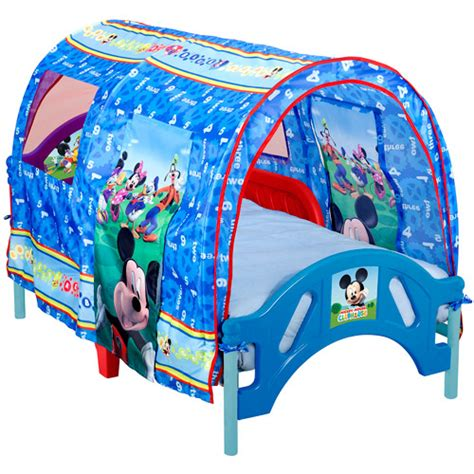 mickey mouse toddler bed walmart disney mickey toddler tent bed walmart com