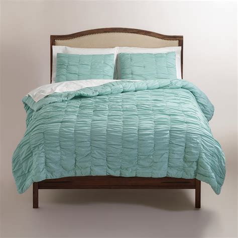ruched bedding harbor blue ella ruched comforter world market