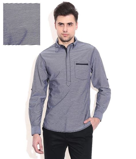 Andiani Navy Fit L Cc 1 mufti navy slim fit casual shirt buy mufti navy slim fit