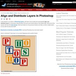 Align And Distribute Layers In Photoshop | layers adobe photoshop pearltrees
