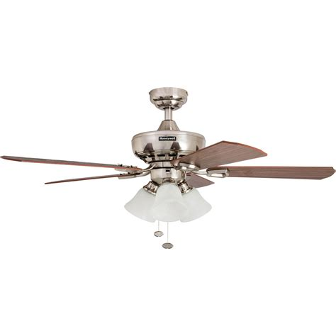 ceiling fans nickel finish honeywell springhill ceiling fan brushed nickel finish