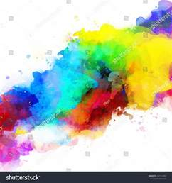 color mixtures vector abstract watercolor palette mix colors stock vector