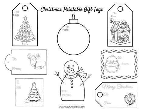 printable christmas gift tag sheets free christmas gift tags to color cultured palate