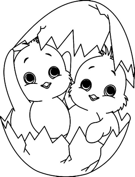 baby chick a twin baby chick coloring page v 253 tvarn 233
