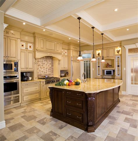 island kitchen remodeling use false beams to add ceiling detail