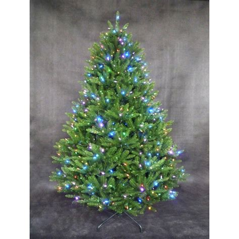 7 5 ft pre lit led california cedar artificial tree with