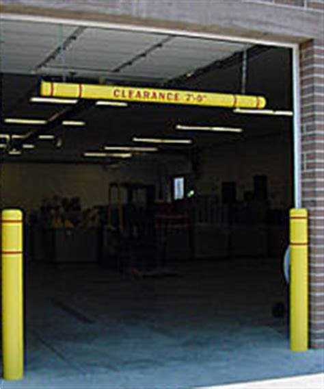 Parking Garage Clearance by Clearancegard Overhead Clearance Bars Enhance Parking