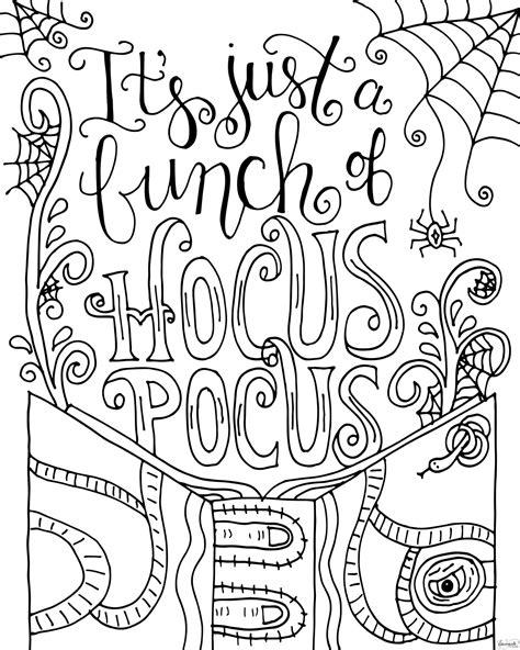 hocus pocus coloring page dawn nicole hocus pocus and dawn
