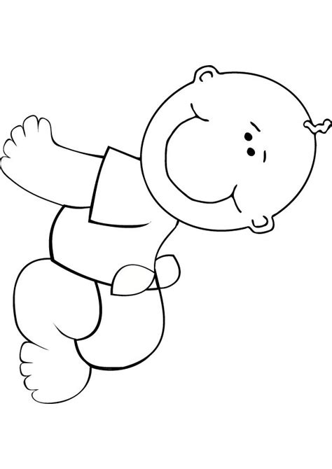 Baby Coloring Picture Newborn Baby Coloring Pages Free