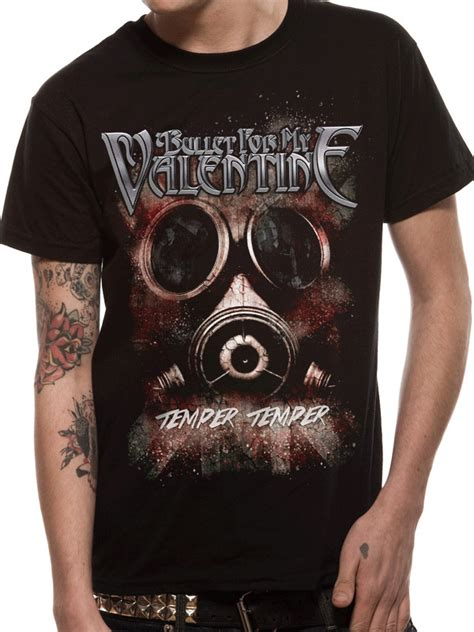 bullet for my clothing bullet for my temper temper gas mask t shirt