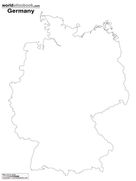 germany map printable geography germany outline maps