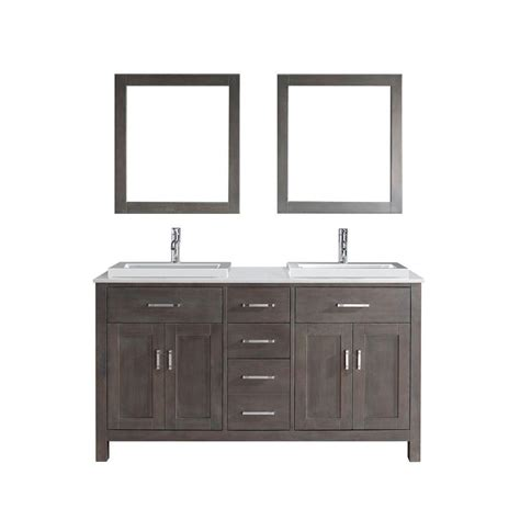 studio bathe calais 63 in vanity in espresso with solid surface studio bathe calais 63 in vanity in white with solid