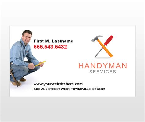 handyman business cards templates free sports suite home repair business names stock