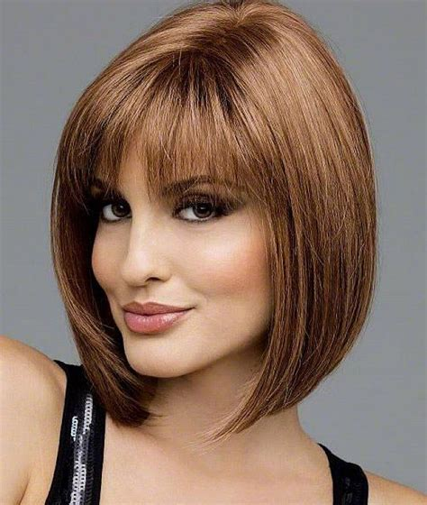 medium bob for over 50 bobs hairstyle for woman over 50 with bangs medium short